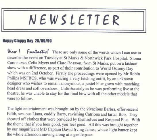 Our first ever newsletter